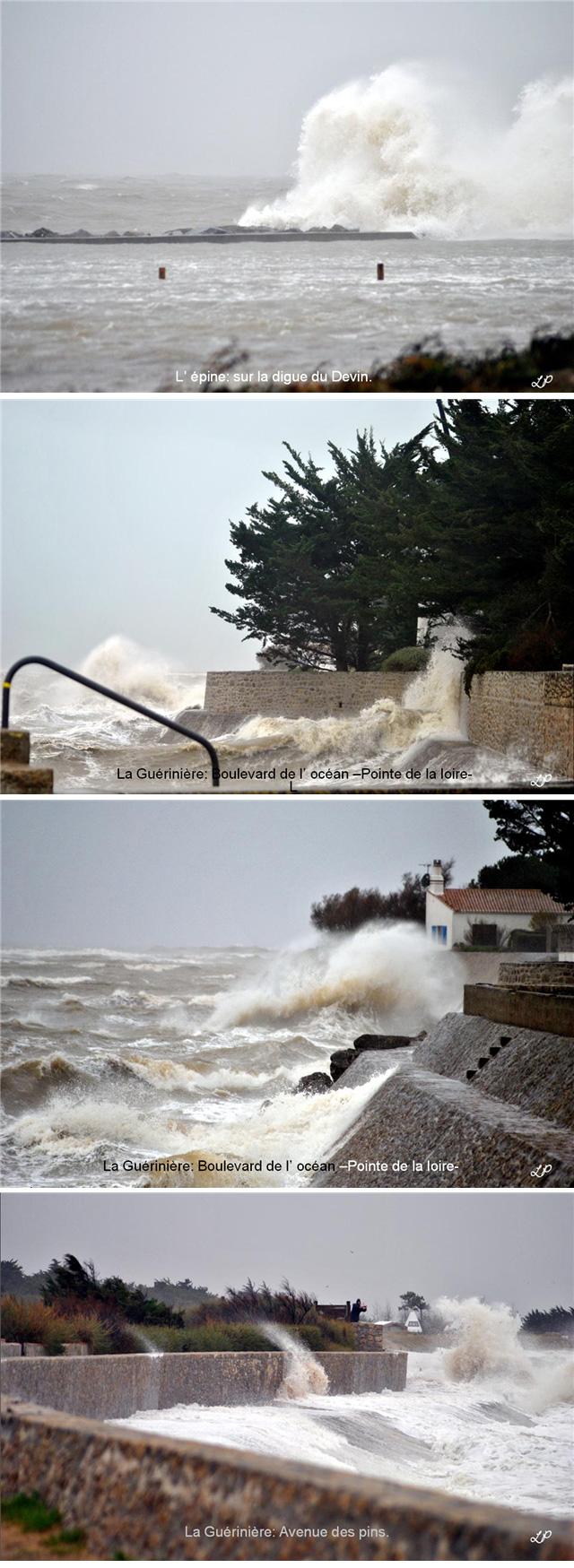 La tempête du 1er janvier à Noirmoutier